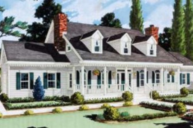 Dream House Plan - Southern Exterior - Front Elevation Plan #3-102