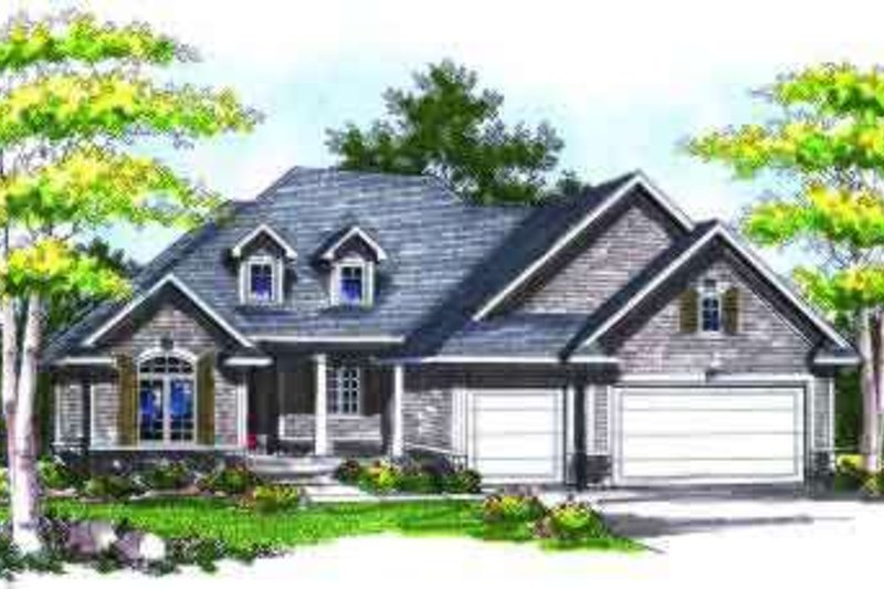 Dream House Plan - Traditional Exterior - Front Elevation Plan #70-726
