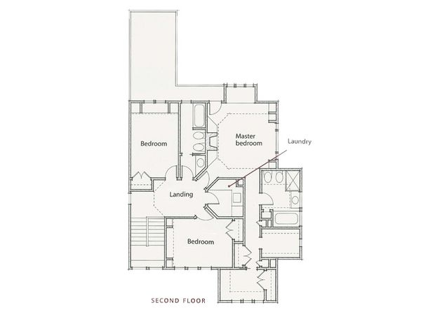 Prairie Style House Plan - 3 Beds 2.5 Baths 2464 Sq/Ft Plan #454-1 Floor Plan - Upper Floor Plan