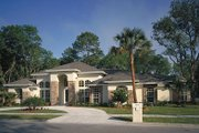 European Style House Plan - 4 Beds 3 Baths 2597 Sq/Ft Plan #417-292 Photo