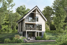 House Plan Design - Cottage Exterior - Front Elevation Plan #25-4925