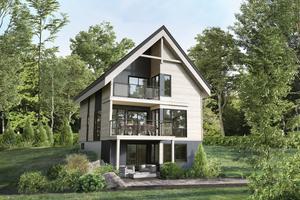 Cottage Exterior - Front Elevation Plan #25-4925