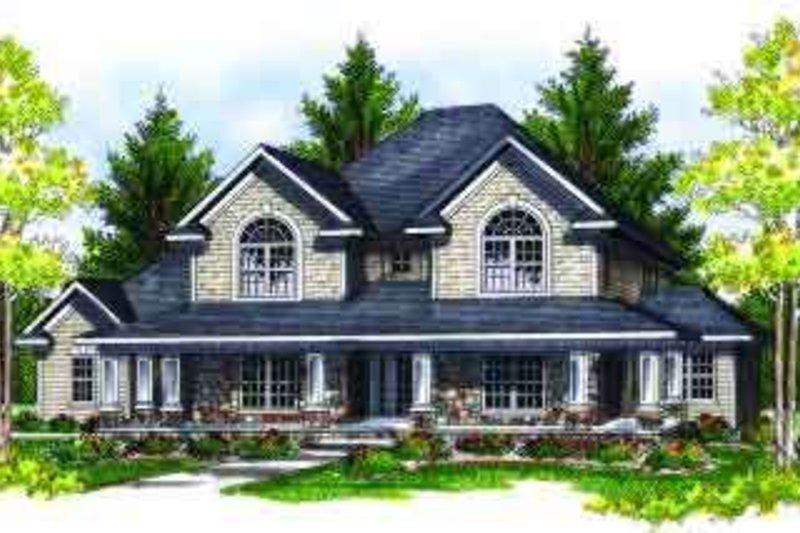 Home Plan - European Exterior - Front Elevation Plan #70-696