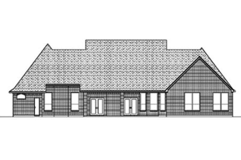 European Exterior - Rear Elevation Plan #84-398 - Houseplans.com