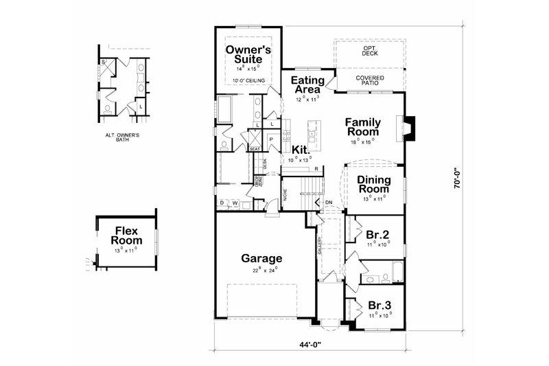 Cottage Floor Plan - Main Floor Plan Plan #20-2187