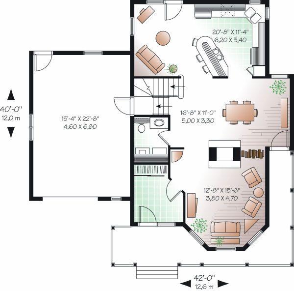 Farmhouse Floor Plan - Main Floor Plan Plan #23-863