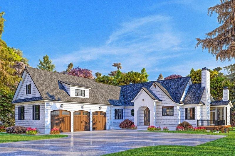 Modern Exterior - Front Elevation Plan #437-108