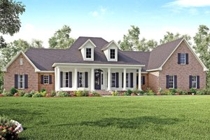 Dream House Plan - Country Exterior - Front Elevation Plan #430-135