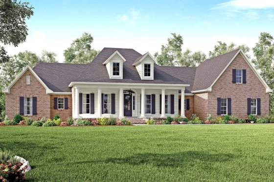 Country Exterior - Front Elevation Plan #430-135