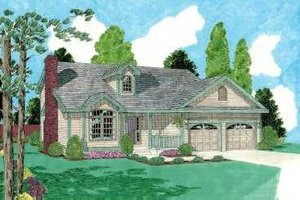 Traditional Exterior - Front Elevation Plan #75-133