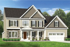 Home Plan - Colonial Exterior - Front Elevation Plan #1010-120