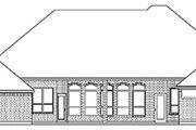 European Style House Plan - 5 Beds 3 Baths 2795 Sq/Ft Plan #84-258 Exterior - Rear Elevation