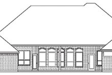 Home Plan - European Exterior - Rear Elevation Plan #84-258