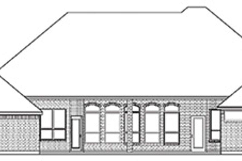 European Exterior - Rear Elevation Plan #84-258 - Houseplans.com