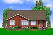 Traditional Style House Plan - 3 Beds 2 Baths 1797 Sq/Ft Plan #48-594 Exterior - Rear Elevation