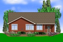 Home Plan - Traditional Exterior - Rear Elevation Plan #48-594