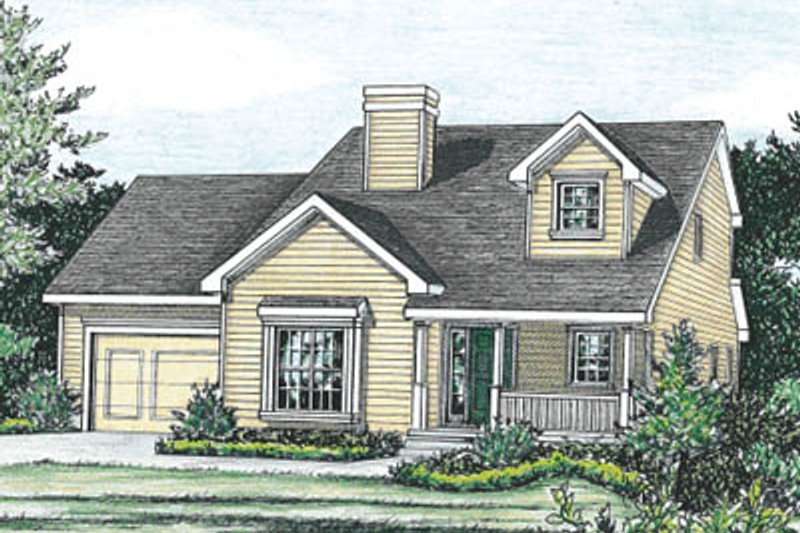 Traditional Exterior - Front Elevation Plan #20-1260 - Houseplans.com