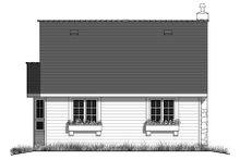 Cottage Exterior - Rear Elevation Plan #18-1043