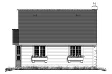 Cottage Exterior - Rear Elevation Plan #18-1043