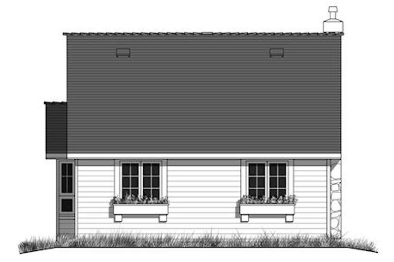 Cottage Exterior - Rear Elevation Plan #18-1043 - Houseplans.com