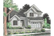 Traditional Style House Plan - 3 Beds 2.5 Baths 1565 Sq/Ft Plan #20-349 Exterior - Front Elevation