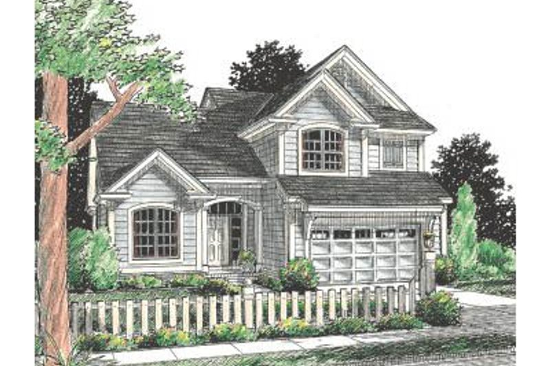 Architectural House Design - Traditional Exterior - Front Elevation Plan #20-349