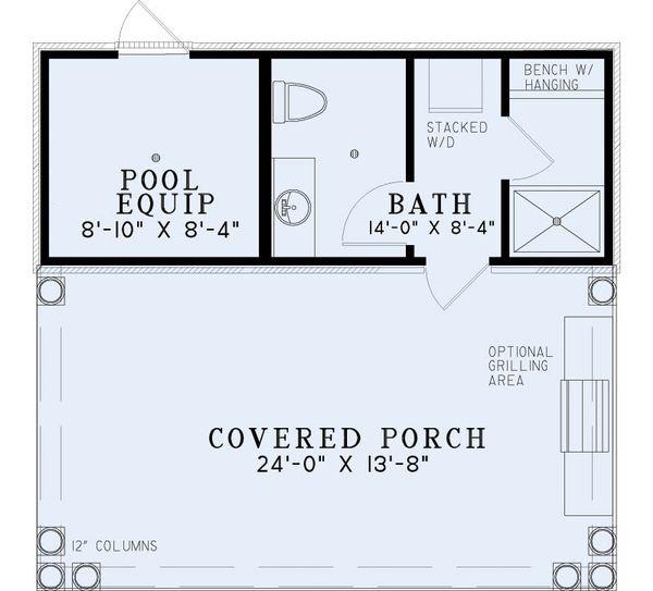 European Floor Plan - Main Floor Plan Plan #17-2585