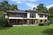 Prairie Style House Plan - 3 Beds 2.5 Baths 3528 Sq/Ft Plan #48-700 Exterior - Rear Elevation