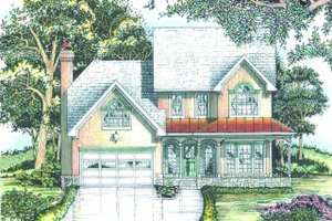 Dream House Plan - Traditional Exterior - Front Elevation Plan #405-341