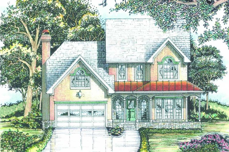 Traditional Exterior - Front Elevation Plan #405-341