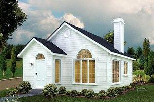 Cottage Exterior - Front Elevation Plan #57-495