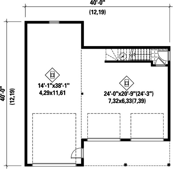 Country Floor Plan - Main Floor Plan #25-4754