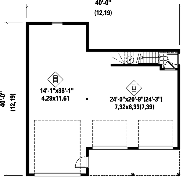 Country Floor Plan - Main Floor Plan Plan #25-4754