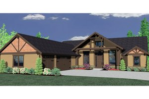 Craftsman Exterior - Front Elevation Plan #509-34
