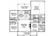 European Style House Plan - 3 Beds 2 Baths 1641 Sq/Ft Plan #21-339