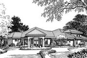 European Style House Plan - 4 Beds 3.5 Baths 3280 Sq/Ft Plan #417-374 Exterior - Front Elevation