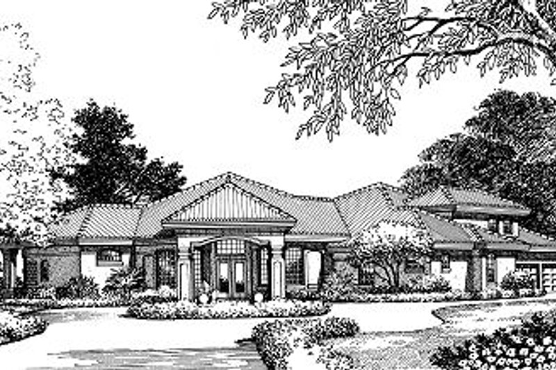 European Style House Plan - 4 Beds 3.5 Baths 3280 Sq/Ft Plan #417-374