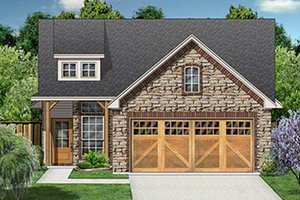 Craftsman Exterior - Front Elevation Plan #84-285