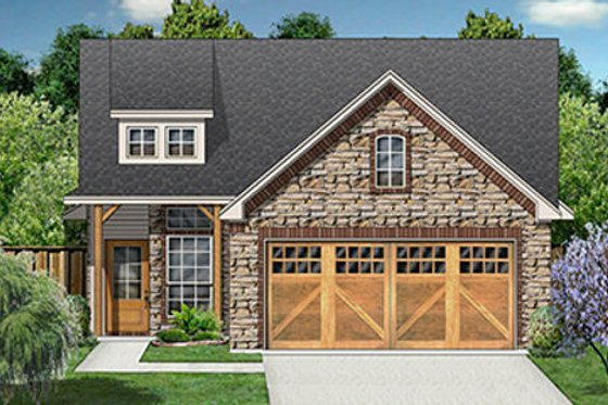 Craftsman Exterior - Front Elevation Plan #84-285