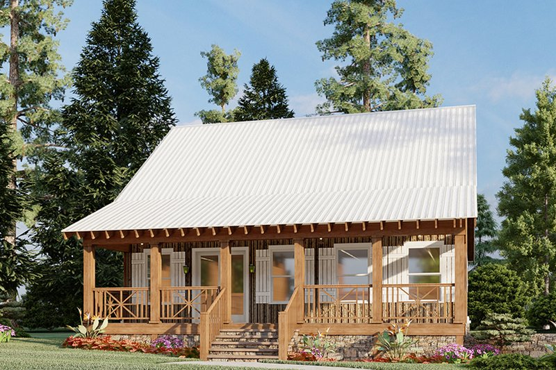 Home Plan - Country Exterior - Front Elevation Plan #923-46