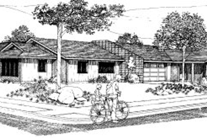 Traditional Style House Plan - 3 Beds 2 Baths 2399 Sq/Ft Plan #303-134 Exterior - Front Elevation