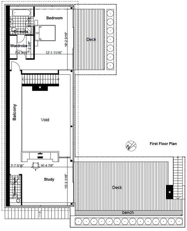 Modern Style House Plan - 4 Beds 3.5 Baths 2845 Sq/Ft Plan #520-2 Floor Plan - Upper Floor Plan