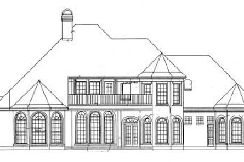 European Exterior - Rear Elevation Plan #20-1192 - Houseplans.com