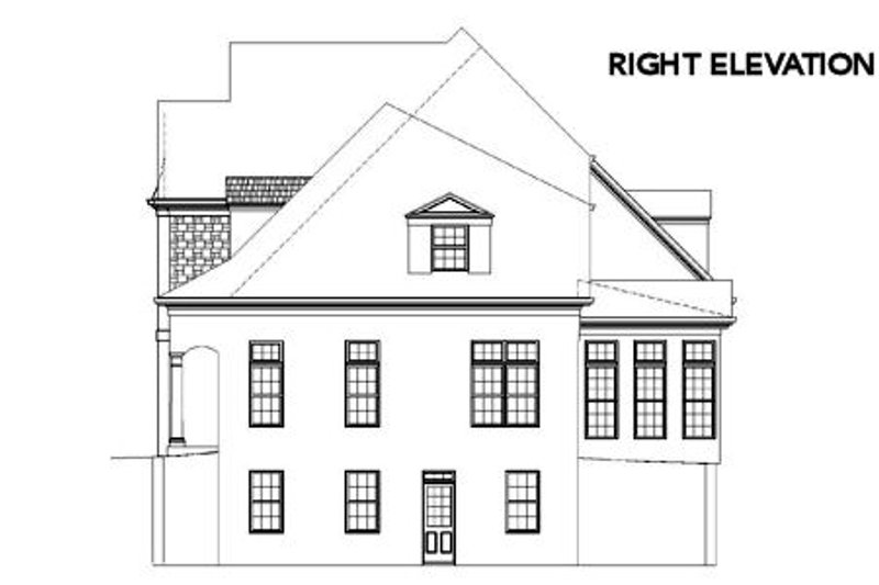 European Exterior - Other Elevation Plan #119-215 - Houseplans.com