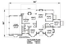 European Floor Plan - Main Floor Plan Plan #20-2210