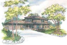Traditional Exterior - Front Elevation Plan #124-465