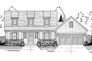 Farmhouse Style House Plan - 3 Beds 2.5 Baths 1664 Sq/Ft Plan #46-868 Exterior - Front Elevation