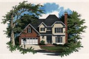 European Style House Plan - 3 Beds 2.5 Baths 1855 Sq/Ft Plan #41-138 Exterior - Front Elevation