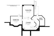 European Floor Plan - Lower Floor Plan Plan #48-962