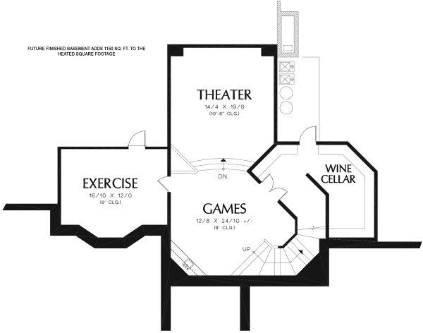 Dream House Plan - European Floor Plan - Lower Floor Plan #48-962